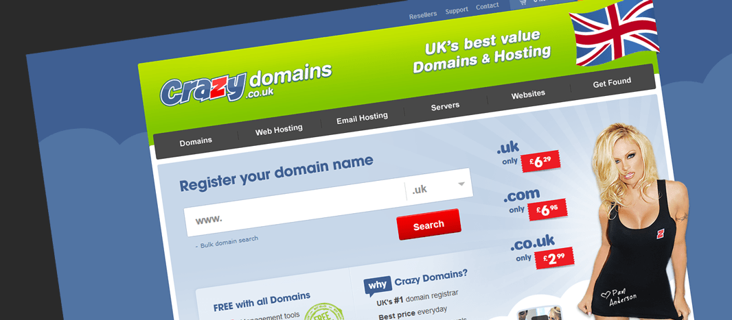 Crazy Domains UK hosting and domains review