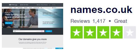 Namesco WordPress hosting reviews on Trustpilot